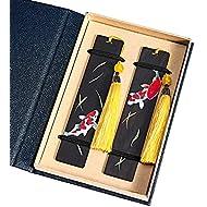 Melyaxu Handmade Natural Color Wooden Bookmark with Tassel - Cryprinus carpiod
