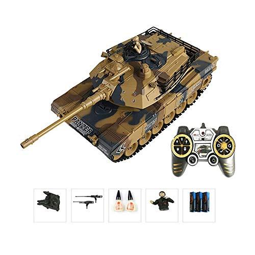 GRTVF 2.4G RC eléctrico batalla Panzer del tanque 1/18 Simulación de control...