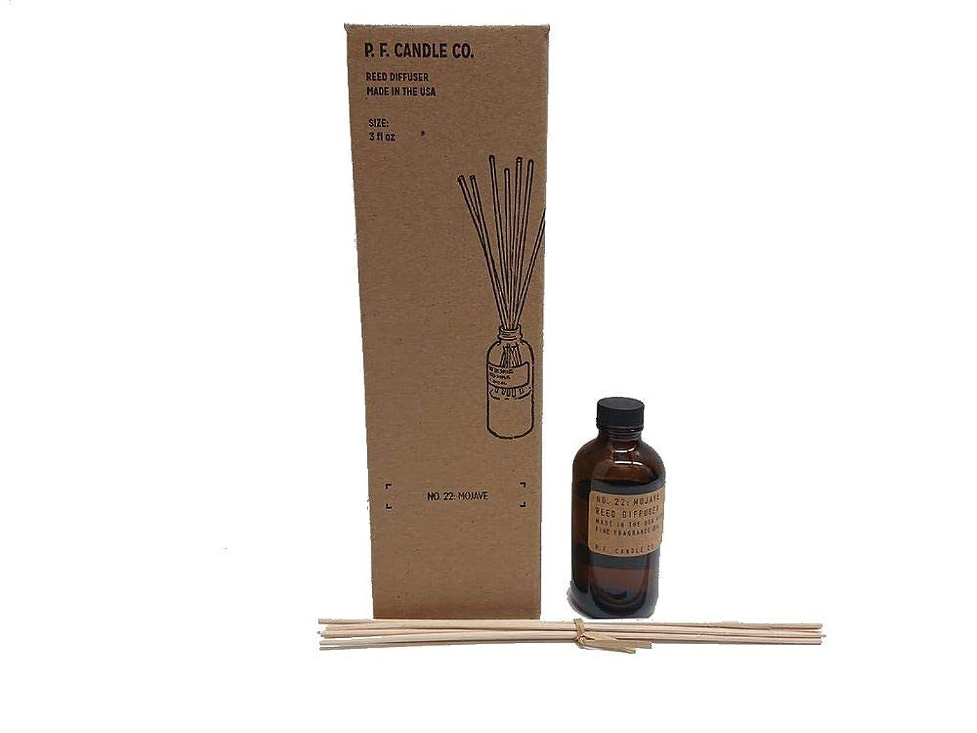 一掃する用心する眼PFキャンドル(pf candle)ディフューザー 10種類 (TEAKWOOD&TOBACCO(チークウッド&タバコ), 3.0oz 容器サイズ:H11cm/φ5cm)