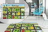 City Road MAP - Alfombra para dormitorio infantil (antideslizante, lavable, 80 x 120 cm)
