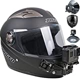 2020年 顎マウント GoPro用 アクセサリー オートバイヘルメット用下顎ストラップマウント アゴマウント バイクヘルメット顎マウント ヘルメットチンホルダー GoPro hero 8/7/6/5/4 、SJCAM Gopro session などに対応 Vlog撮影必要