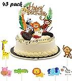 Cake Toppers Zoo,Kuchendeko Tiere,Geburtstag Tortendeko Junge,Kinder Baby Dusche Geburtstag Party Supplies,Tier Kuchendeckel Topper,Cupcake Deko Muffin Torten,Happy Birthday Tiere,Muffin Deko