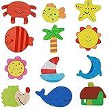 wwwl Imanes Nevera Colorido Madera Animal Dibujos Animados N