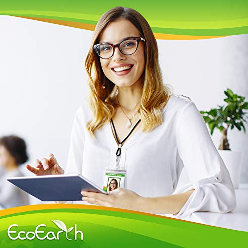 EcoEarth Vertical ID Badge Holder (Premium Tier Sealable, 3x4 Inch (L), 50 Pack), ID Holder, ID Card Holder Bulk, Name Badge Holder, Name Tag Holder, Plastic Badge Holder, Clear Card Badge Protector Photo #4
