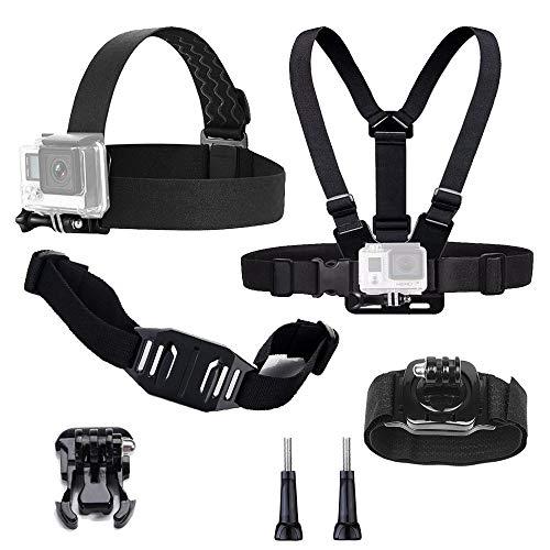 TEKCAM Action-Kamera-Zubehörset, kompatibel mit GoPro Hero 8 7 6 Apeman Akaso EK7000 Camprk 4k Action Kamera Kopfgurt, Brustgurt, Handgelenkschlaufe