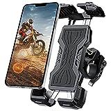 Soporte Movil Bicicleta, ANVASK 360° Rotación Soporte Movil Moto Bicicleta, Universal Anti Vibración Porta Telefono Motocicleta para iPhone 12 Mini/12/11 Pro MAX,Samsung S10/S9/S8, Huawei Smartphones