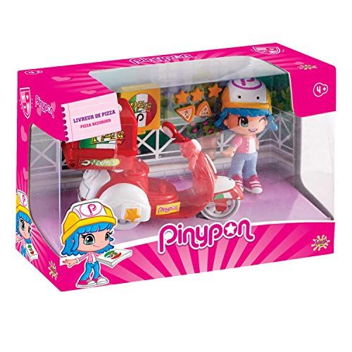 Pinypon - Moto de Pizzería, con 1 Figura, niños y niñas de 4 a 8 años (Famosa 700014911)