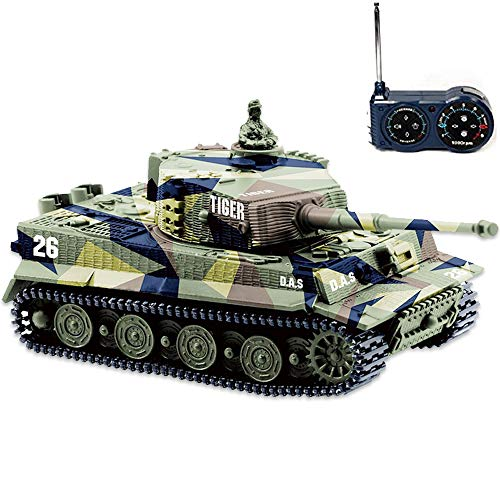Product Image of the BlueFit German Tiger I Panzer Tank with Remote Control, Battery, Light, Sound,...