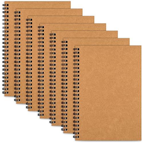 LABUK 7pcs Unlined Notebooks, Blank Notebook Journal, 8.2 x 5.5' Spiral Sketch...