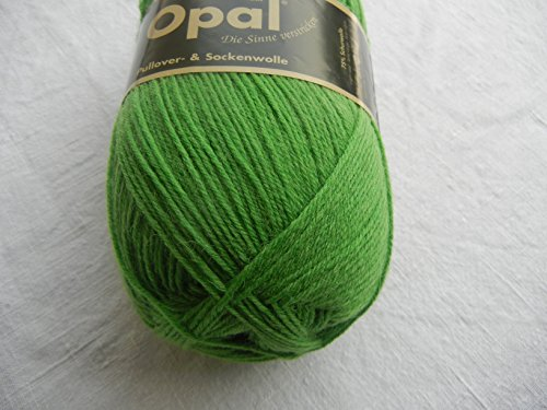 Opal uni 4-fach - 1990 grasgrün - 100g Sockenwolle