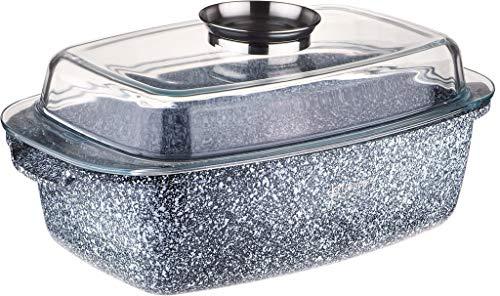 Edenberg EB-8007 Keramik-Granit- Bräter 5,5 l Hitzebeständig aus Aluminium, Antihaftbeschichtung. Ideal für Gas, Elektro, Halogen, Keramik und Induktionsherde