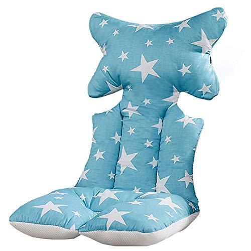 Cojín para cochecito de bebé, grueso algodón, cálido, mate, para niños, asiento suave
