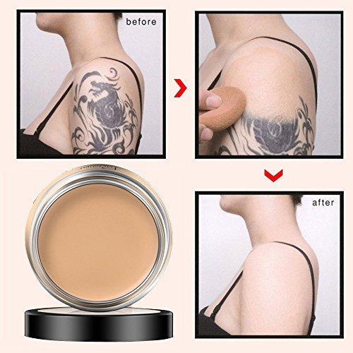 Concealer Cover Concealer -Abdeckung Flawless Farbwechsel Warmer Hautton Camouflage Cream (1 x 40g, natural beige 02#)