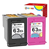 Get AIMINIE Remanufactured 63XL Ink Cartridge Replacement for HP 63 Combo Pack Use with HP OfficeJet 5258 5252 5222 5255 3830 3833 4655 Envy 4520 4512 Deskjet 3630 1112 3634 3637 Printer (1 Black 1 Color) Just for $40.99