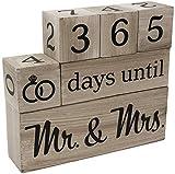 Wedding Countdown Calendar Wooden Blocks -...