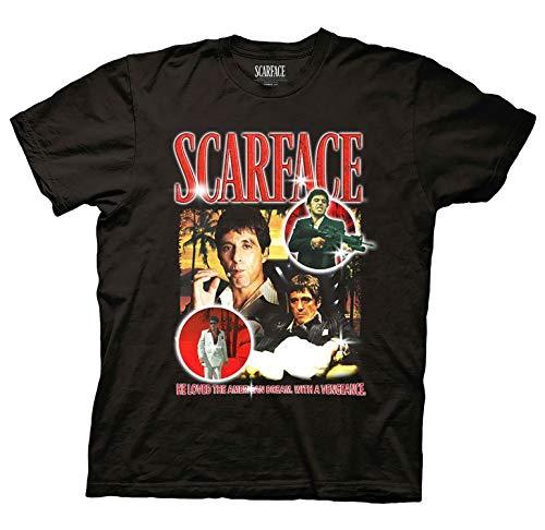 Ripple Junction Men's Scarface Tony Montana T-Shirt - Scarface Fashion Shirt - Scarface Tony Montana Tee (Black, X-Large)