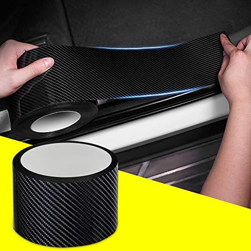 QBUC Auto Einstiegsleisten Kantenschutz Aufkleber,Auto Kratzfeste Kohlefaser Dekorative Aufkleber,Schützen Sie die Stoßstange,Passend für die meisten Autos(7CM*5M)