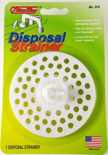 Garbage Disposal and Sink Strainer Guard - White Plastic -...