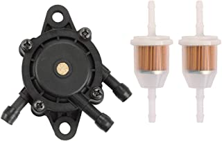 Buckbock 24 393 04-S Fuel Pump Fits for Kohler 24 393 16-S 491922 808656 Fits for John Deere L107 L108 X125 X145 X140 X110 X120 L105 LA120 LA130 LA135 LA145 with Fuel Filter