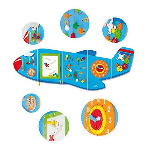 VIGA 50673 Toy Toys-Wandspiel-Flugzeug, Multi Color
