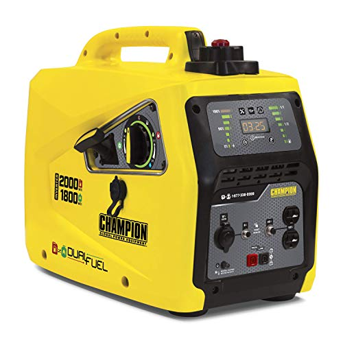 Champion Power Equipment 100402 2000-Watt Dual Fuel Portable Inverter Generator, Parallel Ready