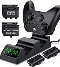 Controller Batteries Packs for Xbox Series/One , Controller Charging Station with 2x1200mAh Rechargeable Battery Accessories Charge Kit compatible with Xbox One/Series X|S/One X/One S/One Elite