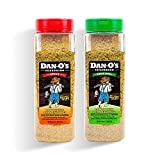 MORE FLAVOR - No fillers = more flavor. That means our big bottle combo offers 40 oz of pure flavor! Try the famous Original Dan-O's Seasoning and our never-too hot Spicy Dan-O's variant. Get ready for real sea salt, lemon peel, orange peel, dried he...