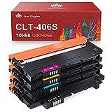 Toner Kingdom Tóner Compatible Samsung 406S CLT-406S CLT-P406C CLT-K406S Compatible para Samsung Xpress SL C410W C460FW C460W C463W CLP-360 360N CLP-365 365W CLX-3300 CLX-3305 CLX-3305W CLX-3305FW