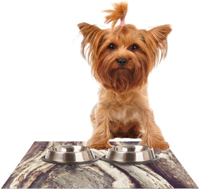 Kess InHouse Catherine McDonald Bark  Feeding Mat for Pet Bowl, 18 by 13Inch