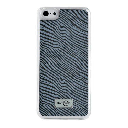blueway COQUEZEBREIP5CG - Custodia Rigida per iPhone 5/5s/5c, Motivo zebrato, Grigio