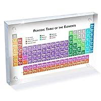 リアルな要素を備えたアクリル製周期表、学生学習のための学校教師の日の誕生日プレゼント、170x120X24mm,色