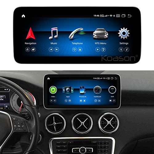 Koason Android Qualcomm 8Core 4+64GB 10.25 inch Screen Upgrade Display Monitor 4G Wireless CarPlay Multimedia Player GPS Navigation for Mercedes Benz A CLA GLA 2015-2017 X156 C117 X117 W176 NTG4.5