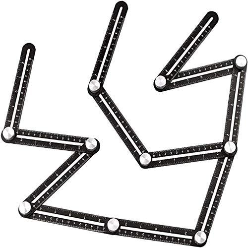 Angleizer - Herramienta de medición de 12 lados con regla multiángulo, aleación de aluminio, herramienta de medición para perforadora