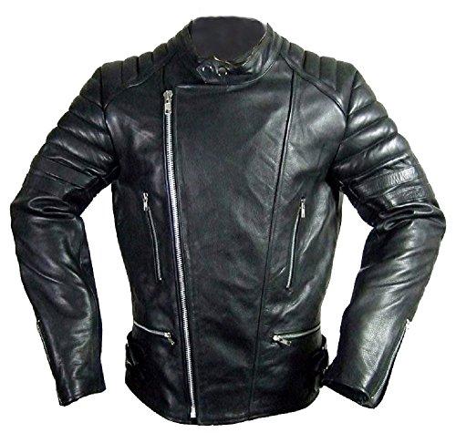 Hard Leather Oldschool Retro Lederjacke, Farbe: Schwarz, Größe: XXL