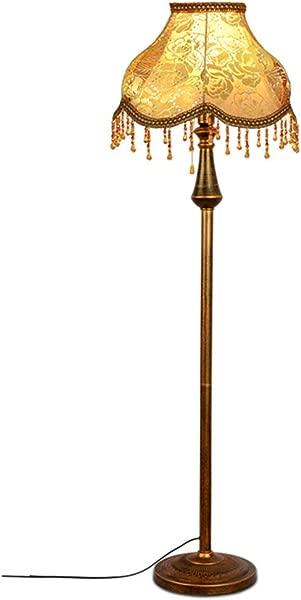 WEXXEW European Style Floor Lamp Modern Antique Vertical Floor Lamp For Living Room Bedroom Bedside Standard Lamp Color Floor Lamp
