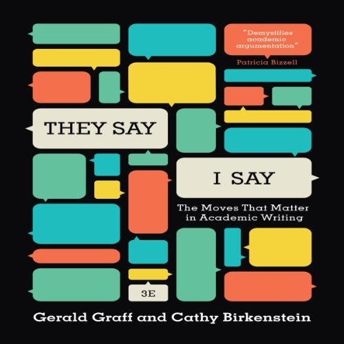 """They Say / I Say"" audiobook cover art"