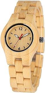 LRHD Orologio in legno al quarzo naturale per le donne Cinturino in legno fatti a mano Concetto Piccolo quadrante orologio...