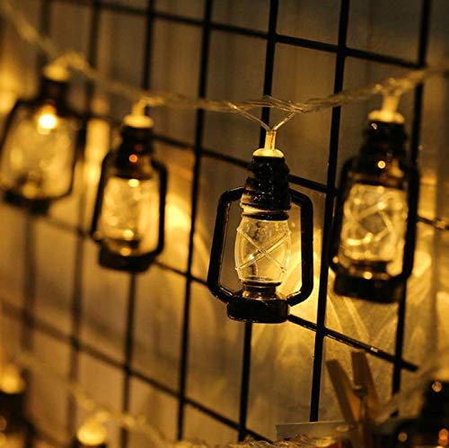 QETUOAD LED decorativo cadena de luz funciona con batería al aire libre jardín césped impermeable lámpara Festival Fiesta Árbol de Navidad decorativo cadena de luz 100LED
