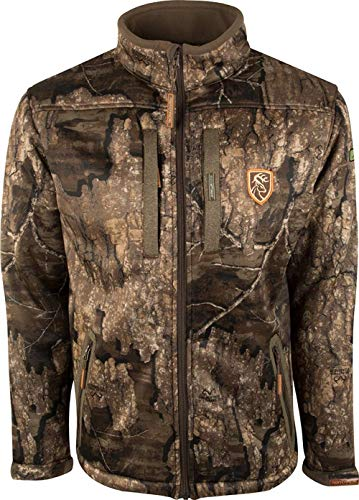 DRAKE Waterfowl Men's Silencer Full Camo with Agion Full Zip Hunting Jacket, Realtree Timber, XXX-Large