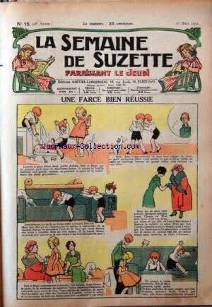 SEMAINE DE SUZETTE (LA) [No 15] du 10/03/1932 - UNE FARCE BIEN REUSSIE - BECASSINE AUX BAINS DE MER