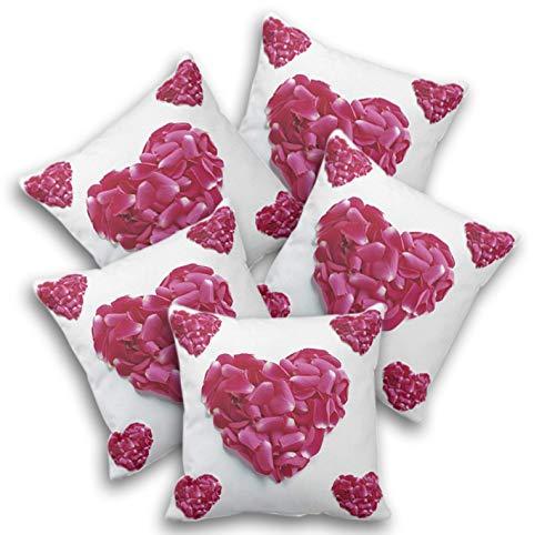 Jikraa Beautifully Printed Cushion Cover Set of 5