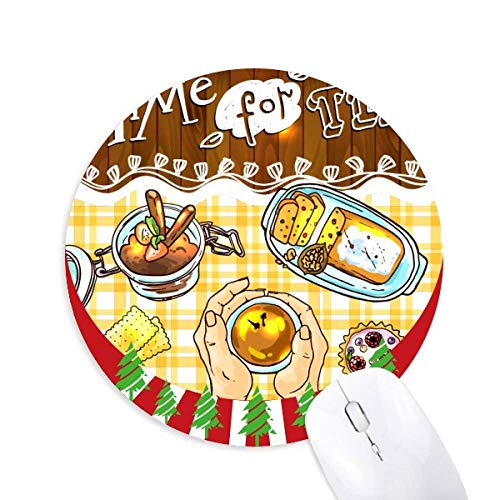 Zeit für Tee Kekse Schokolade rund Gummi Maus Pad Weihnachtsdekoration