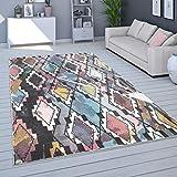 Tapis De Salon, Poils Ras Moderne Couleurs Pastel, Coloris Et Tailles Variés, Dimension:120x170 cm, Couleur:Multicolore 6