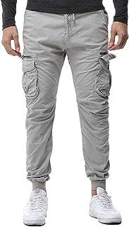 6347272d06cc Rcool Pantaloni Uomo Lunghi Cargo con Tasche Laterali Tattici Militari  Pantalone da Lavoro Pantaloni a Matita