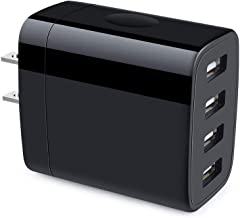 Multiple USB Wall Charger, Hootek 4-Multi Port USB Travel Charger 4.8A Charging Station Charging Block Compatible iPhone 11 Pro Max XS XR X 8 7 Plus, iPad, Galaxy S20 S10 S9 S8 S7 Note 10 9 8, LG, HTC
