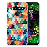 B2Ctelecom Premium TPU Tasche Handyhülle LG G8 Thinq Silikonhülle TPU Kariert