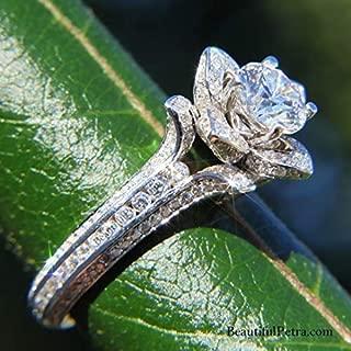 Best flower rose lotus diamond engagement ring Reviews