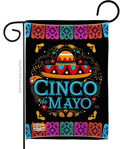 Breeze Decor Summer Mexican Fiesta Party Cactus PinataOutdoor Summertime Sunny Deko-Banner für kleine Gärten, doppelseitig, 13 x 18,5 cm, Garden Flag 13