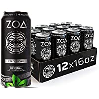 12-Pack ZOA 100% DV Vitamins C Zero Sugar Energy Drink