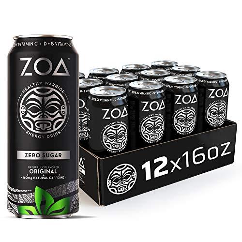ZOA Zero Sugar Energy Drink, Original, 16 oz. (12 Pack) - Supports...